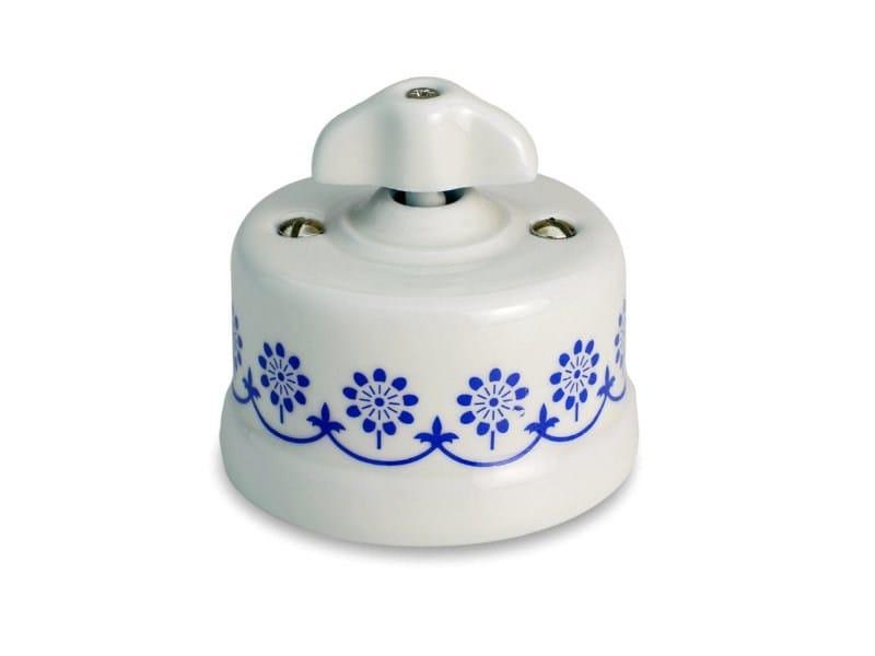 Garby blue decor retro knob