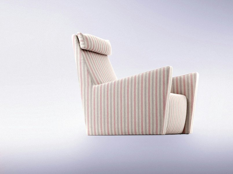 Upholstered armchair with headrest FILOSOFIA by ERBA ITALIA