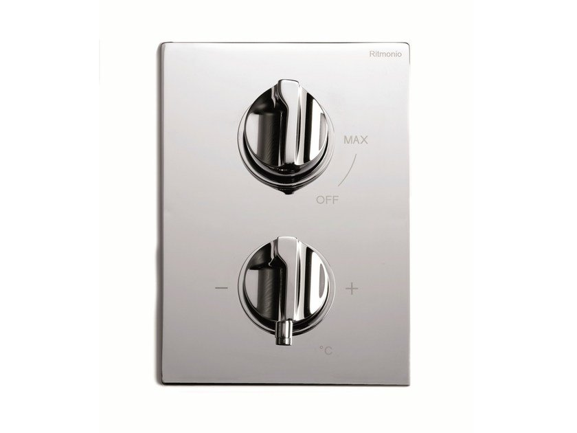 2 hole chrome-plated thermostatic shower mixer TETRIS | 2 hole thermostatic shower mixer by RITMONIO