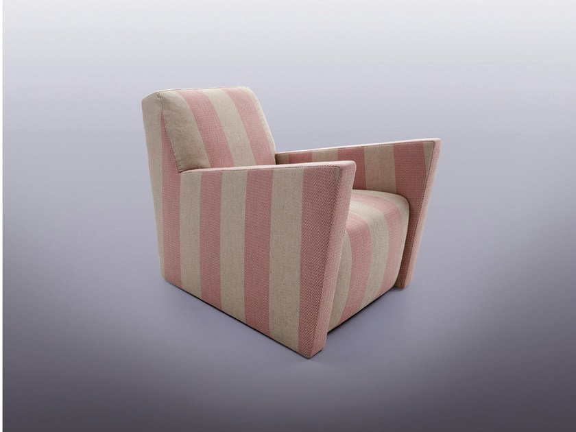 Upholstered armchair with armrests ALTERNANZA by ERBA ITALIA