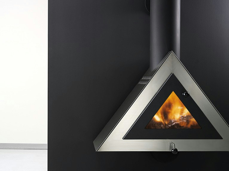 Hanging stainless steel fireplace JOKER by ANTRAX