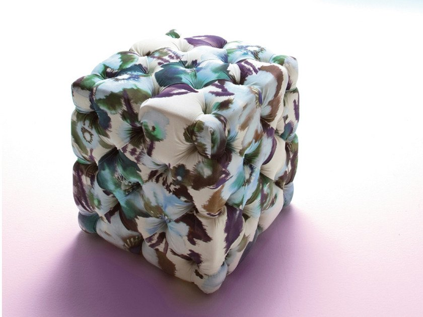 Upholstered pouf DADO by ERBA ITALIA