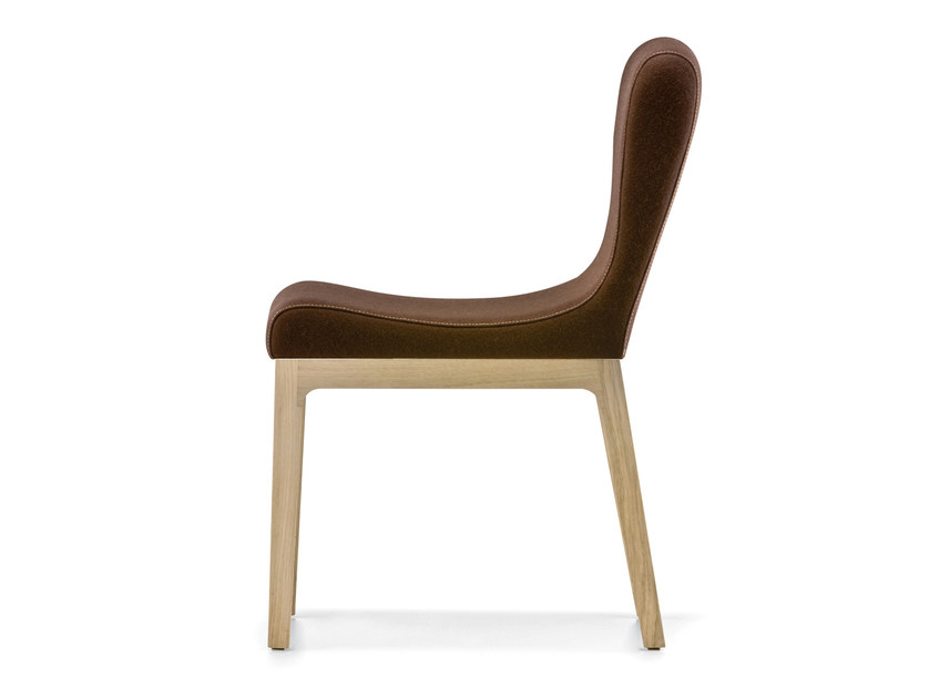 Upholstered wooden chair GILDA by PEDRALI