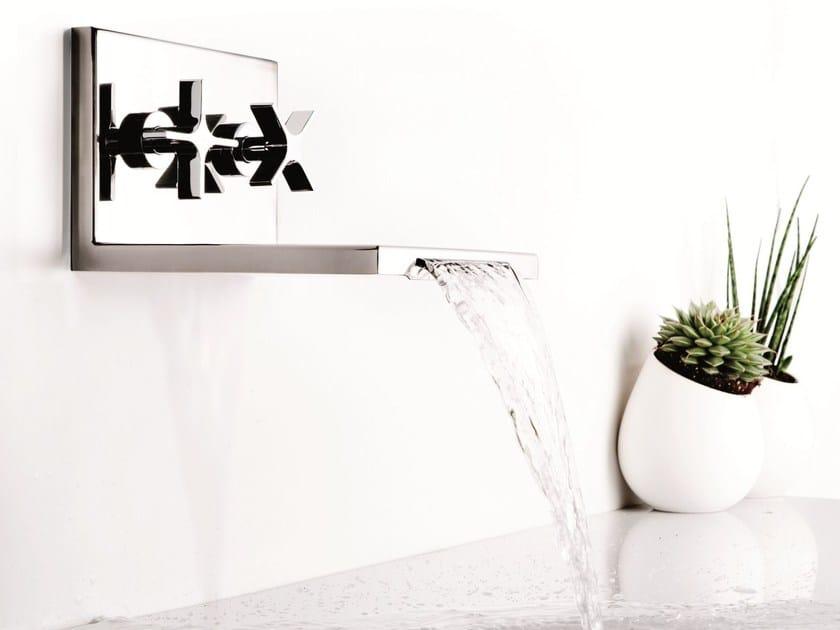 Wall-mounted waterfall bathroom tap WATERBLADE | Wall-mounted washbasin tap by RITMONIO