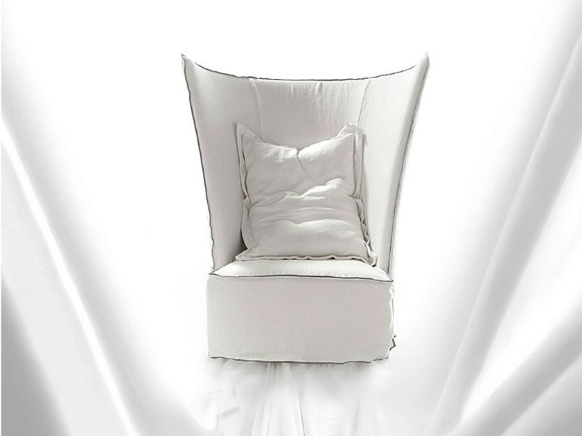 Armchair with headrest RED BARON by ERBA ITALIA