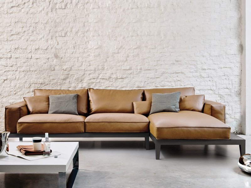 Sectional leather sofa CARESSE FLY | Sectional sofa by ESTEL GROUP