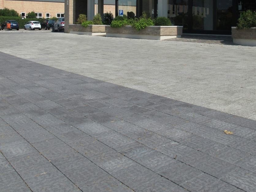 Cement outdoor floor tiles with stone effect ANTIGUA by FAVARO1