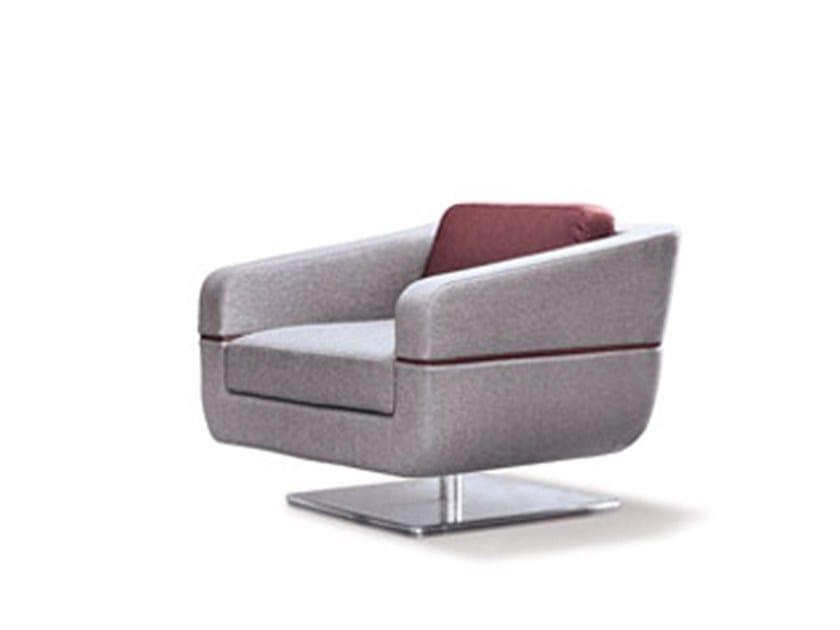 Swivel fabric armchair DUNE | Armchair by ESTEL GROUP