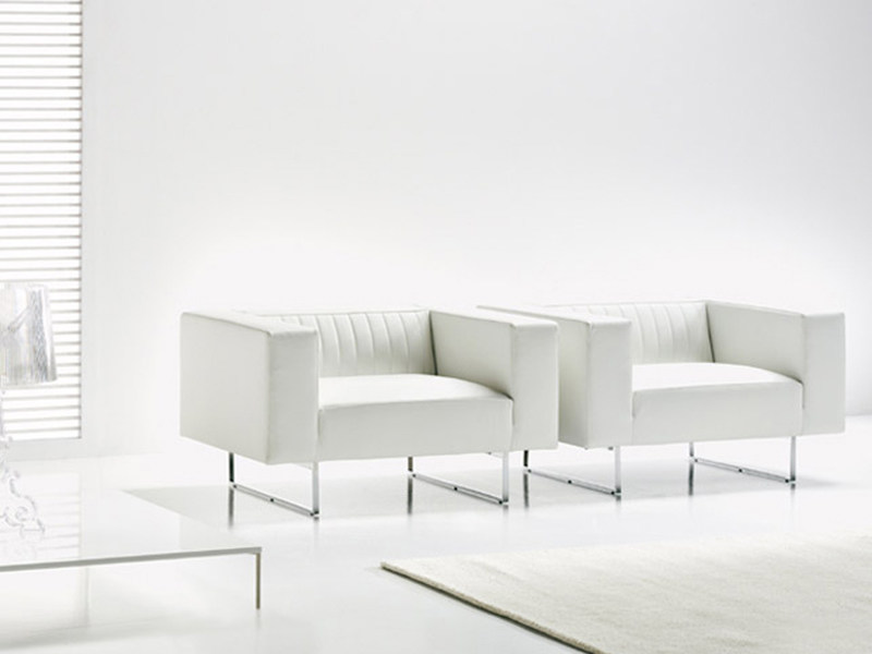 Leather armchair with fire retardant padding GATE | Armchair by ESTEL GROUP