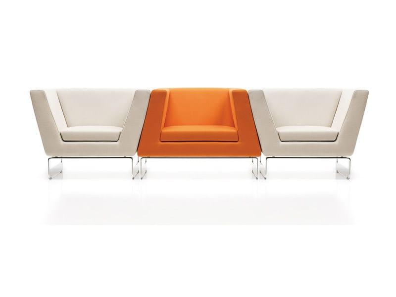 Modular fabric armchair LADY & SIR FUNK by ESTEL GROUP