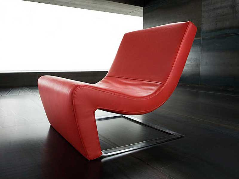 Cantilever upholstered armchair ONE by ERBA ITALIA