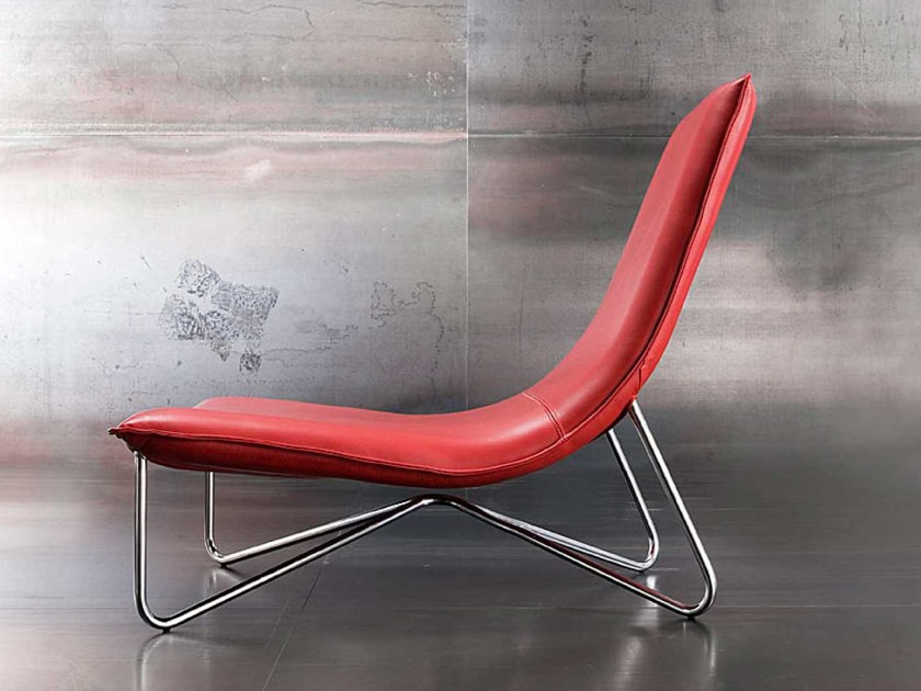 Upholstered relaxing armchair GAS by ERBA ITALIA