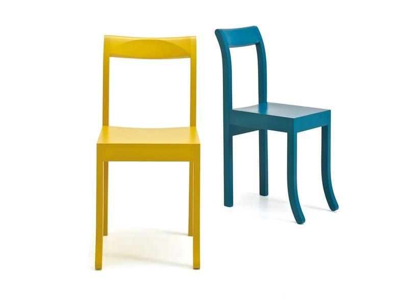 Lacquered chair JIM & SLIM COLOUR by ESTEL GROUP