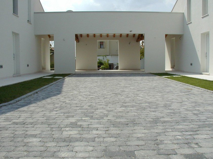 Cement outdoor floor tiles with stone effect SASSO PIANO by FAVARO1
