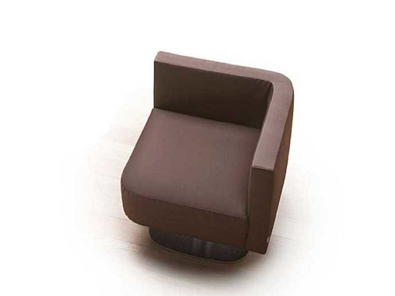 Corner armchair with armrests REPORT by ERBA ITALIA