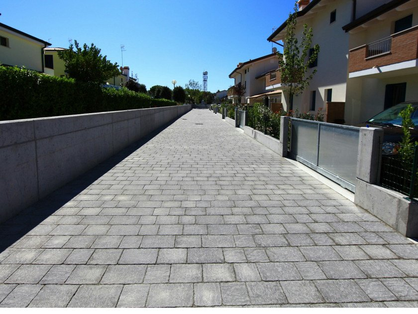 Cement outdoor floor tiles with stone effect BORGO LAVAGNA by FAVARO1