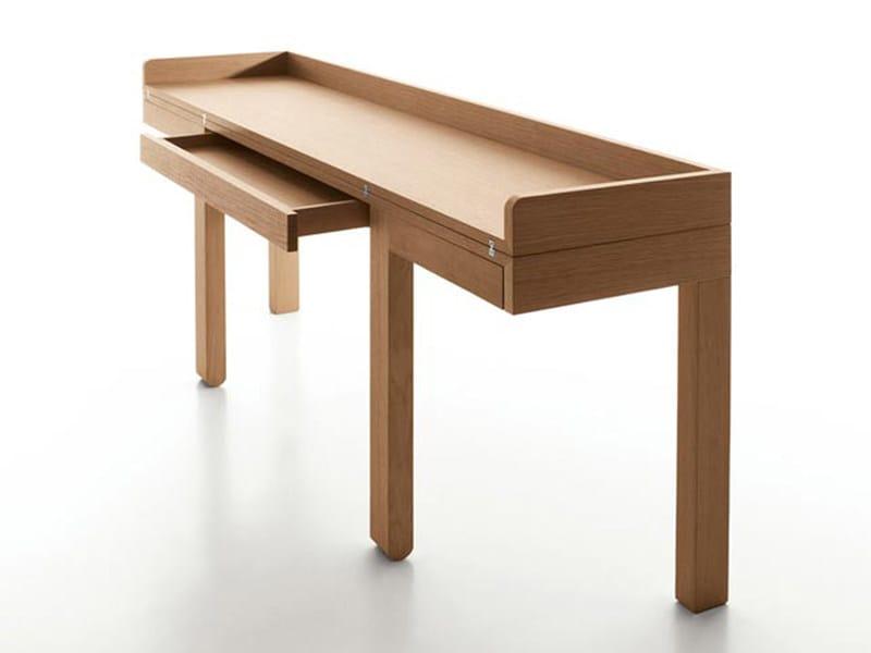 Oak console table / secretary desk TOM by ESTEL GROUP