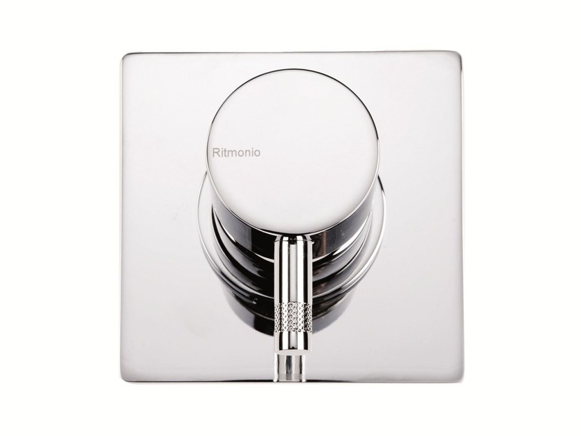 Single handle shower mixer with plate DIAMETROTRENTACINQUE | Shower mixer with plate by RITMONIO