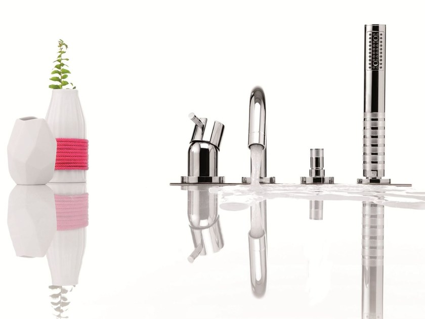 Single handle bathtub set with diverter with hand shower DIAMETROTRENTACINQUE   4 hole bathtub set by RITMONIO