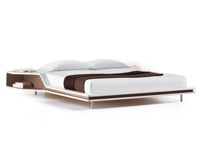Leather double bed AYRTON by ESTEL GROUP