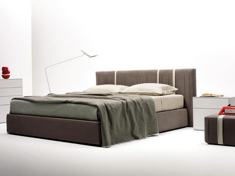 Double bed with upholstered headboard CANNETTE by ESTEL GROUP