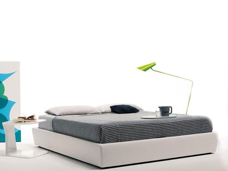 Upholstered double bed with removable cover SOMMIER by ESTEL GROUP