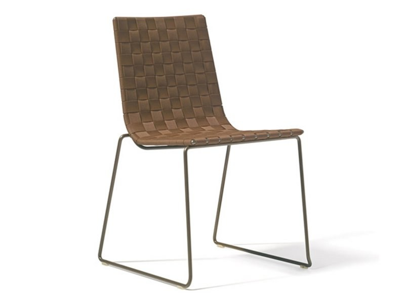 Sled base stackable garden chair TRENZA | Chair by Andreu World