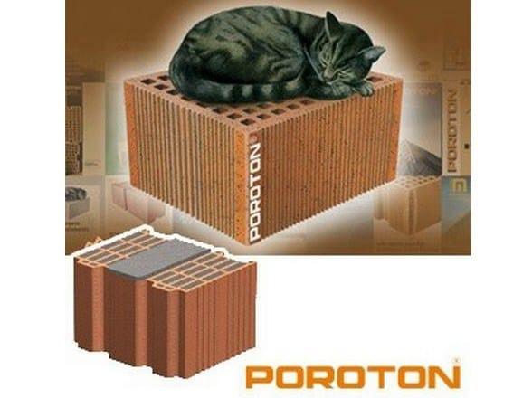 Blocchi POROTON® con isolante integrato