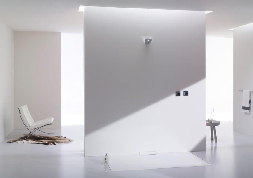 piatto doccia filo pavimento in acciaio smaltato xetis by kaldewei italia. Black Bedroom Furniture Sets. Home Design Ideas