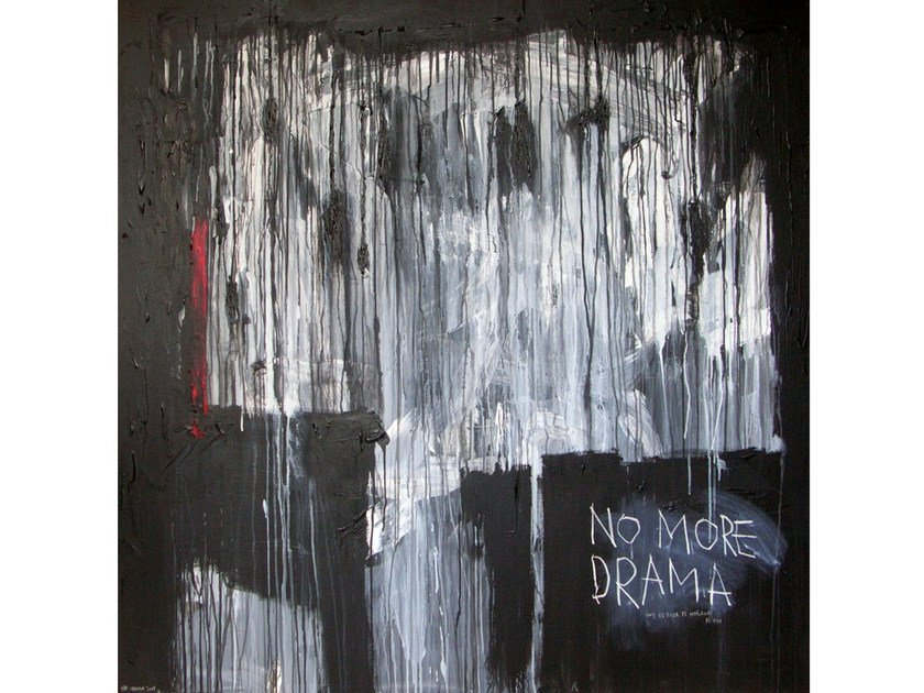 Acrylic on canvas NO MORE DRAMA by ICI ET LÀ