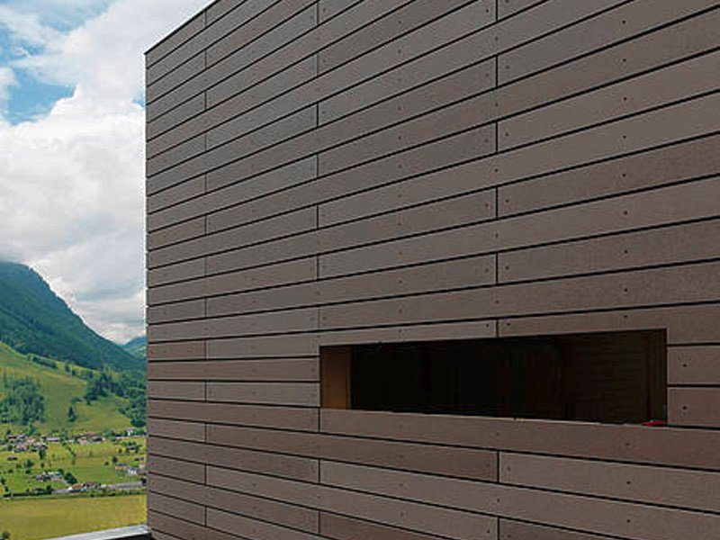 Dry-laid cement and fibre cement sheet [öko skin] RIEDER by Kalikos