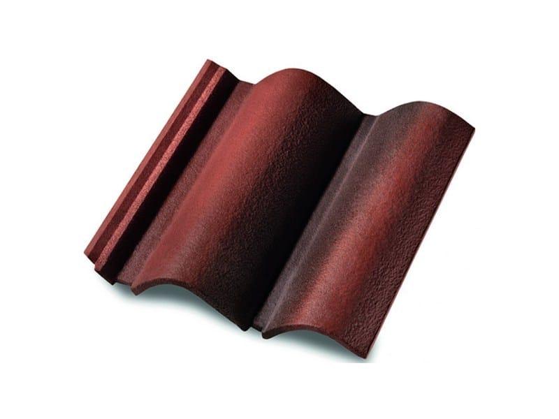 Cement Roman and flat roof tile COPPO DEL BORGO® by MONIER