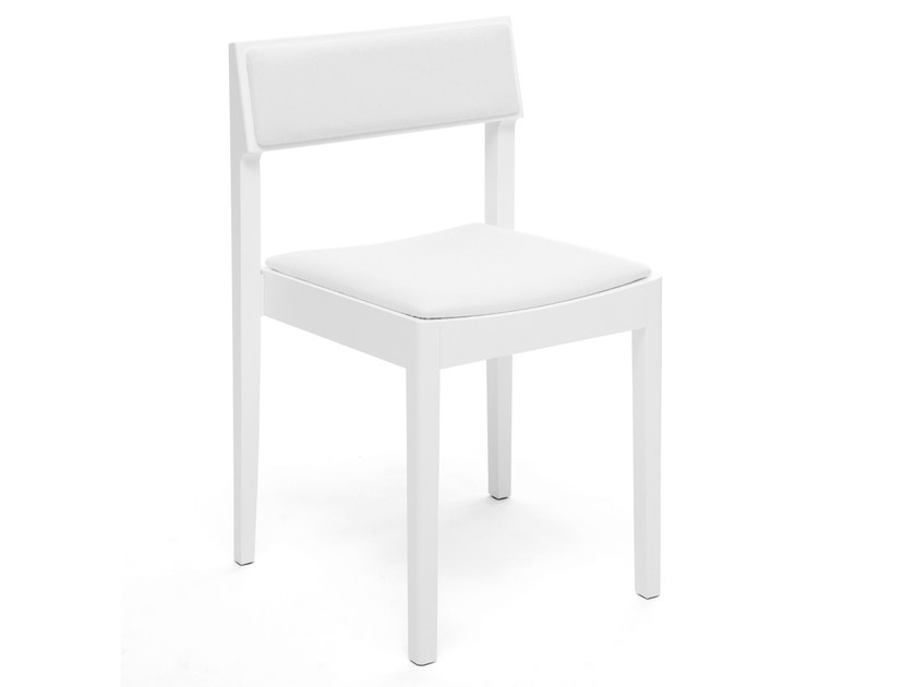 Ergonomic upholstered stackable chair INTRO | Upholstered chair by Inno