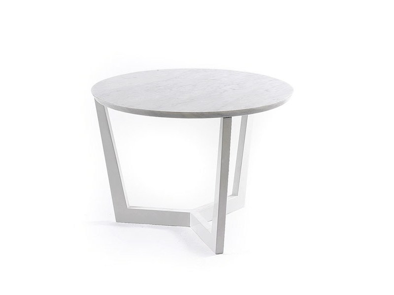 Round Carrara Marble Coffee Table MOMA By Boca Do Lobo - White carrara marble coffee table