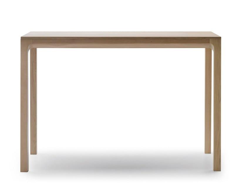 Rectangular oak high table LAIA | High table by ALKI