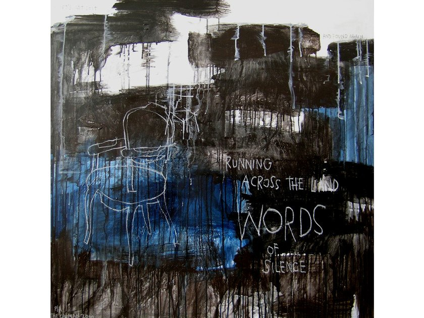 Acrylic on canvas WORDS by ICI ET LÀ