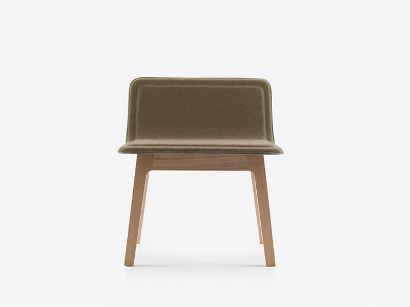 Fabric chair LAIA LOUNGE by ALKI