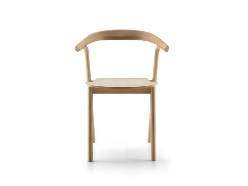 Stackable oak chair MAKIL by ALKI