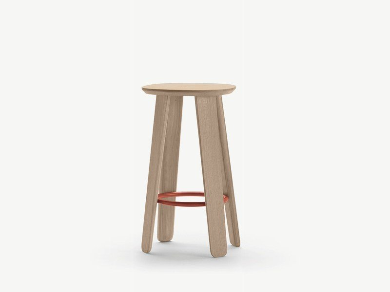 High wooden stool TRIKU | Stool by ALKI