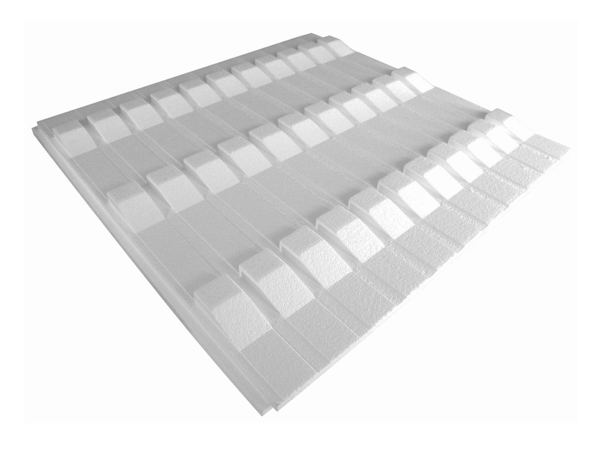 Thermal insulation panel LEUCOSTEGOLA mod.1 by S.T.S. POLISTIROLI