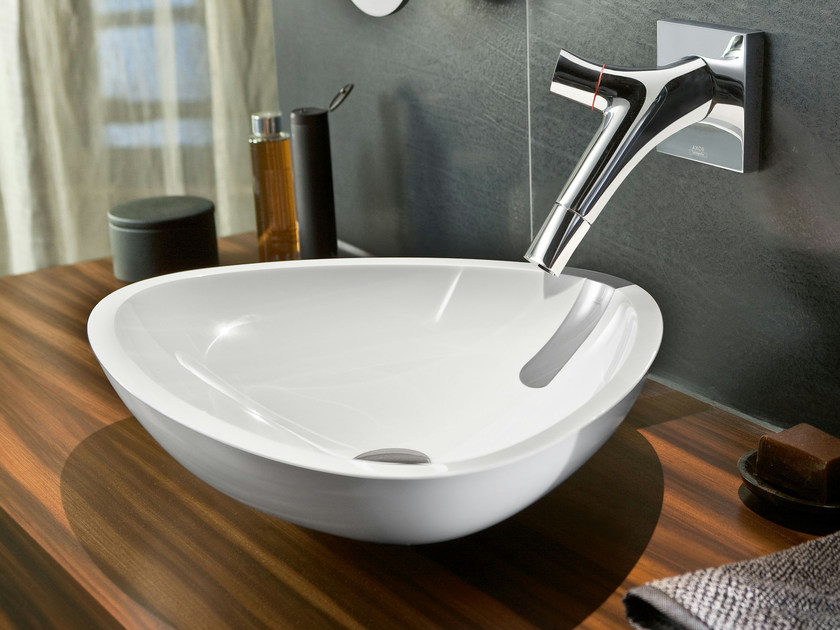 Wall-mounted washbasin mixer AXOR STARCK ORGANIC | Wall-mounted washbasin mixer by Axor