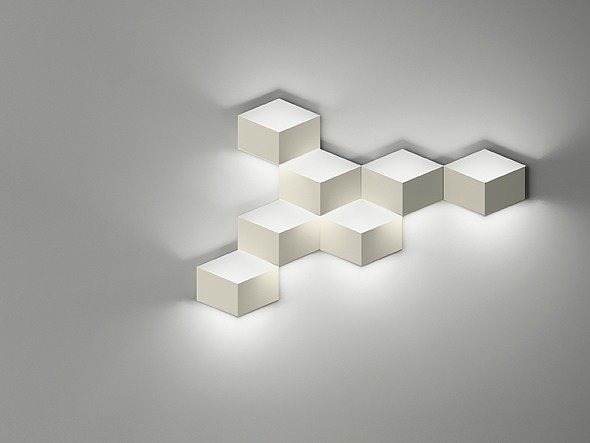 LED aluminium wall light FOLD SURFACE 4209 by Vibia