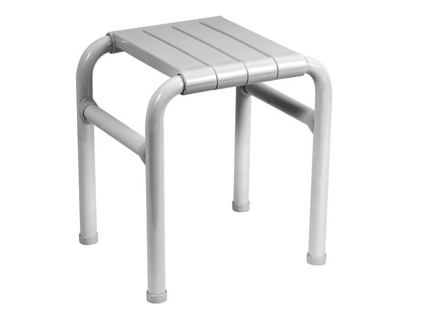 Sgabello per bagno in acciaio zincato TUBOCOLOR | Sgabello per bagno ...