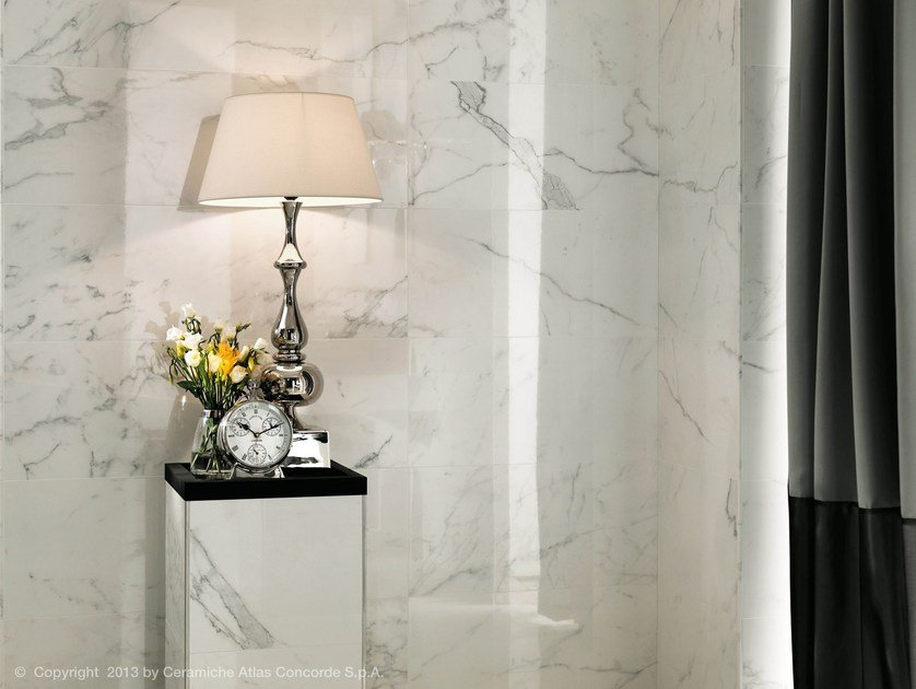 White-paste wall tiles with marble effect MARVEL WALL | White-paste wall tiles by Atlas Concorde