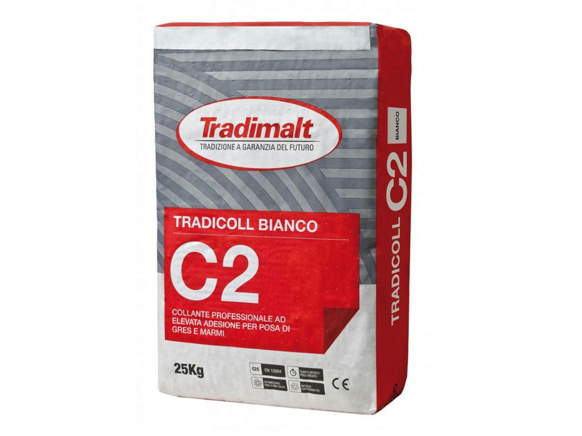Cement-based glue C2 BIANCO by TRADIMALT