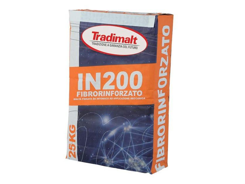 Cement plaster IN 200 FIBRORINFORZATO by TRADIMALT