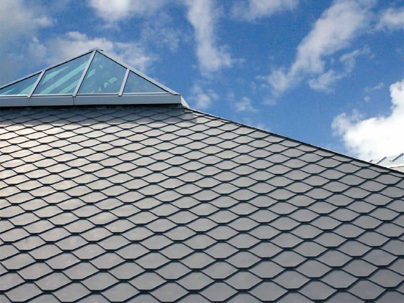 Metal shingle for roof ADEKA® by UMICORE VMZINC