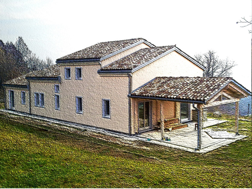 Wooden house XLAM SYSTEM by GALLOPPINI LEGNAMI