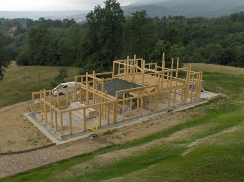 Casa in legno sistema telaio by galloppini legnami - Casa americana in legno ...