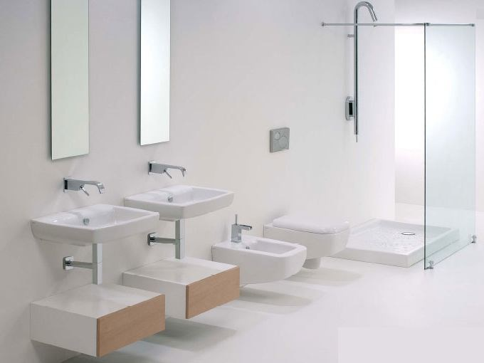 Bathroom furniture set LILAC by GSG Ceramic Design